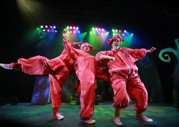 The Three Little Pigs - l-r Nicky Harley, Adam Dougal and Julie Maxwell