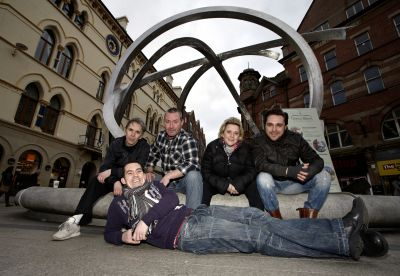 Chronicles cast members at Cornmarket Belfast (Jan 2011)