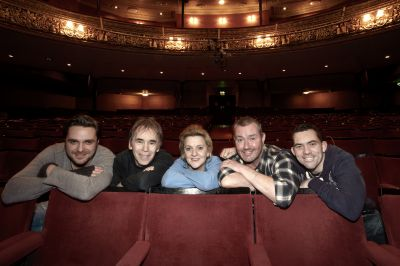 Chronicles cast members in goh (jan 2011) l -r andy moore, billy clarke, jo donnelly, marty maguire and packy lee