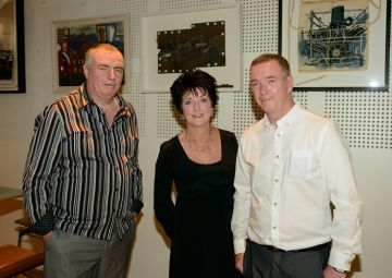 Far right Hugh Clawson our Artist is Association on the The Titanic Boys with his wife and friend