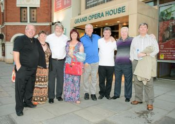 Martin with family and friends