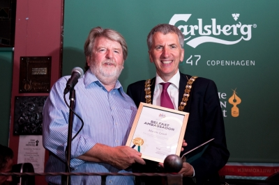 Martin Lynch with the Lord Mayor