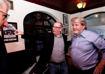 Gerry White and Martin looking stunned in back room of The John Hewitt