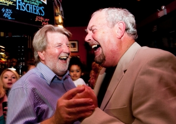 Martin and Gerry Laughing